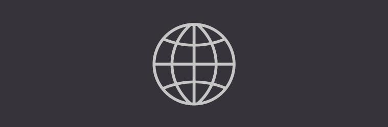 globe logo black background