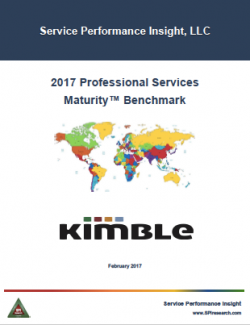 Free Download - Service Performance Insight's Professional Services Maturity™ Benchmark Report