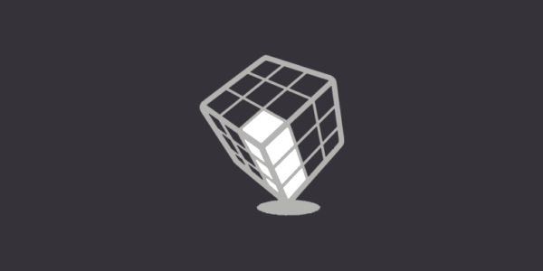 Rotated cube with highlighted row of blocks