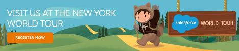 Salesforce World Tour New York banner