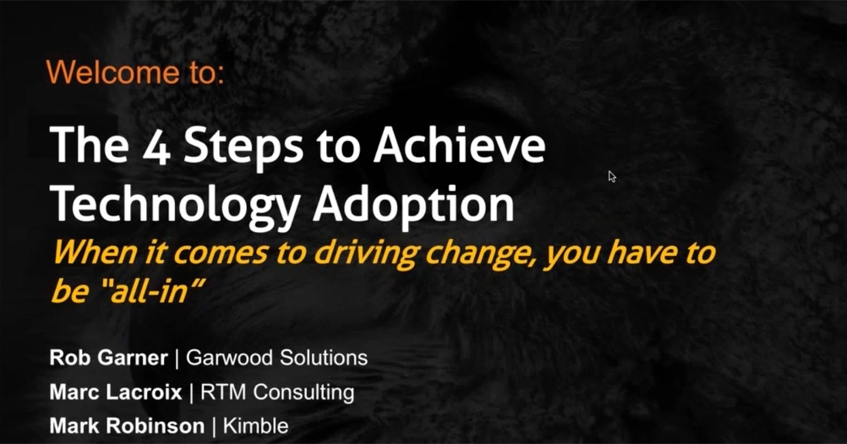 Title image: The 4 Steps to Achieve Technology Adoption. When it comes to driving change, you have to be