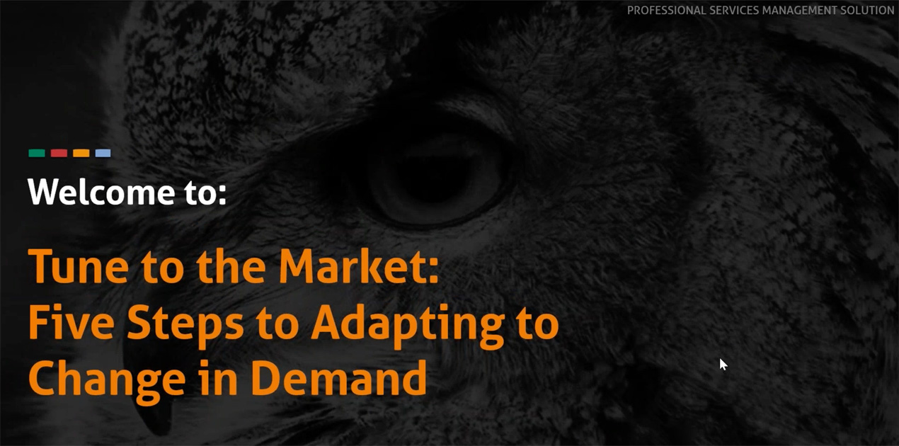 Webinar Marketing Image - Tune to the Market: Five Steps to Adapting to Change in Demand